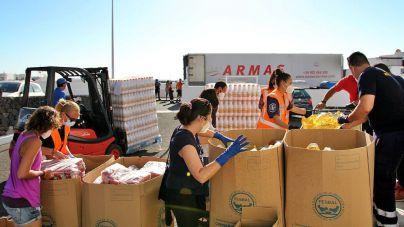 Tías recibe 10 toneladas de ayuda del Banco de Alimentos de Las Palmas