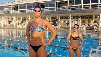 Michelle Alonso y Judith Rolo, de vuelta al agua en las instalaciones del RC Náutico