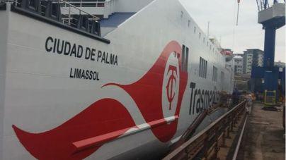 Muere un tripulante del Ciudad de Palma en un accidente laboral
