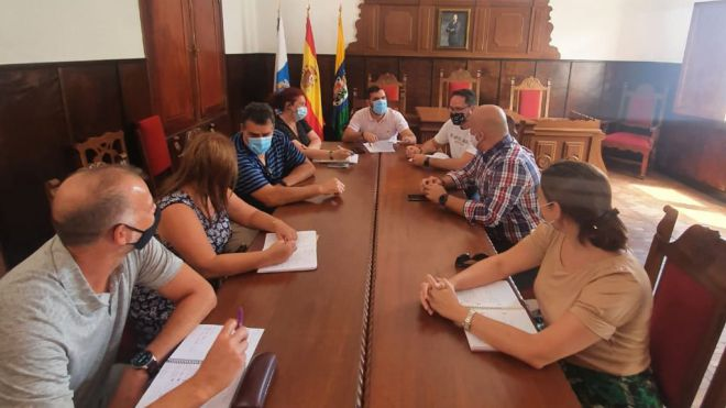 Hermigua y Gesplan se reúnen para planificar futuras acciones en el municipio