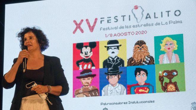 """Jovita Monterrey: """"La Palma ha sido un modelo de promoción la cultura segura con el Festivalito"""""""