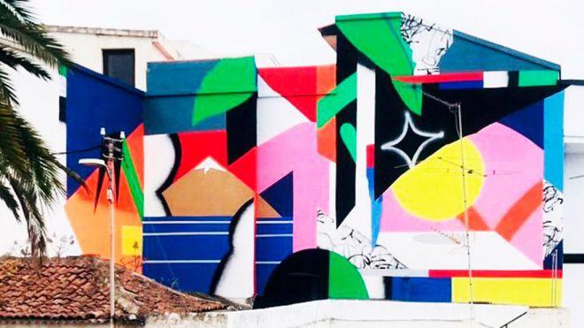 Los Realejos cuenta con una nueva obra mural del artista bilbaíno Iker Muro