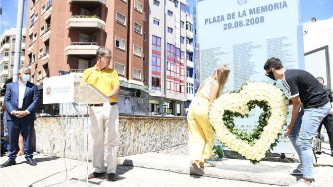 Gran Canaria recuerda a los fallecidos del accidente del JK5022