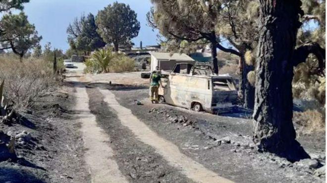 Investigan a un menor como autor del incendio de Garafía al quemar una tunera