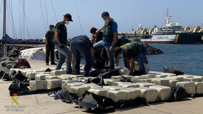 La Guardia Civil interviene 1000 kilogramos de cocaína en la novedosa