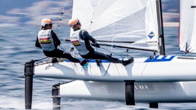 Equipos de vela de 26 países preparan los Olímpicos de Tokio en Playa Blanca