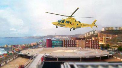 La helisuperficie del Hospital Insular ha comenzado a operar en horario nocturno