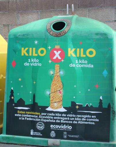 El Ayuntamiento y Ecovidrio lanzan el reto de intercambiar kilos de envases de vidrio por alimentos