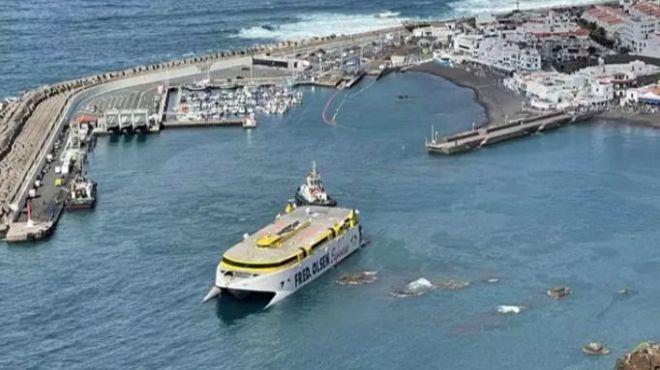 Aseguran que 'no' hay riesgo de que el 'Bentago Express' se hunda en Gran Canaria