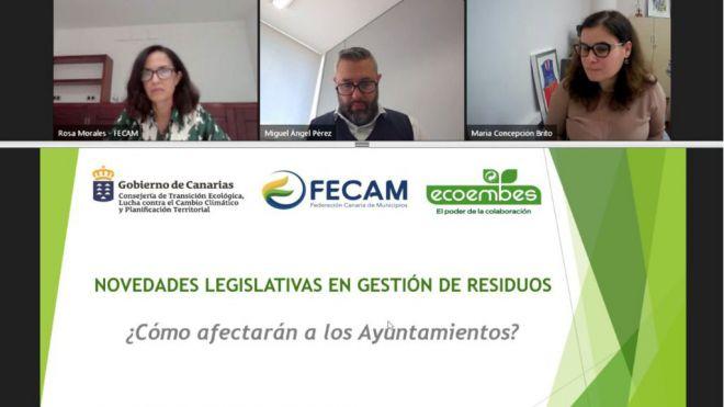 FECAM, Gobierno de Canarias y Ecoembes exponen las últimas novedades legislativas en gestión de residuos y economía circular