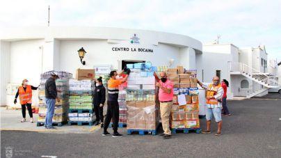Tías recibe 17,5 toneladas de productos del Banco de Alimentos de Las Palmas