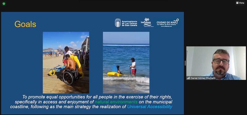 La Playa de Las Canteras, un ejemplo de buenas prácticas en accesibilidad para la Organización Mundial del Turismo