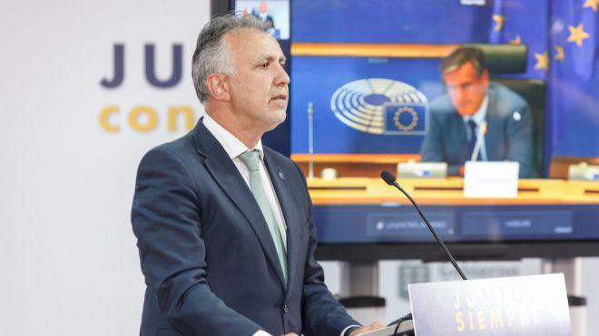 """El presidente de Canarias reclama en el Parlamento Europeo una política migratoria corresponsable """"con la implicación de los 27"""""""