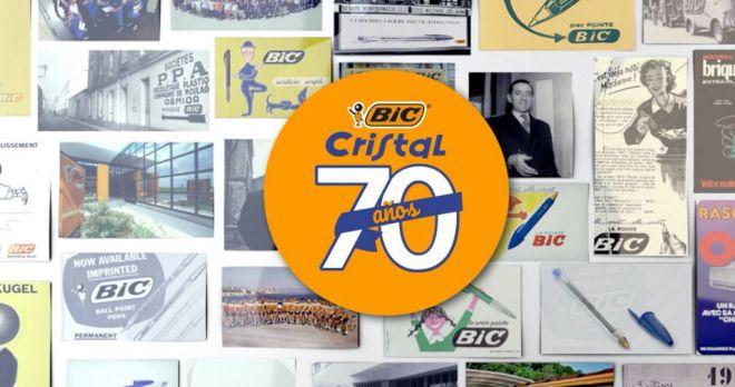 BIC celebra el 70 aniversario de su icónico BIC® Cristal, el bolígrafo más vendido del mundo