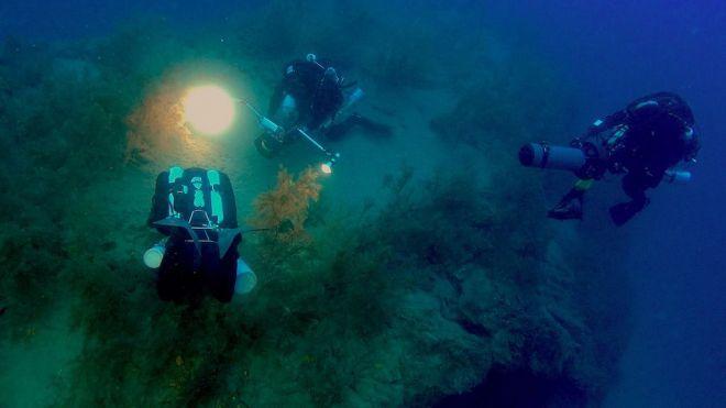 El cámara de Cousteau, Roberto Rinaldi, llevará a la RAI-1 italiana el bosque de coral negro submarino de Lanzarote