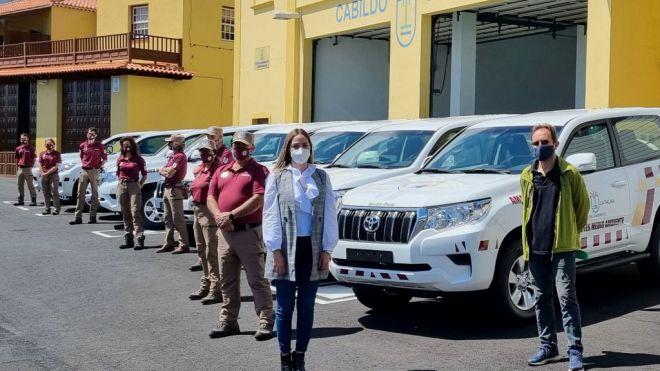 La Palma mejora su capacidad de actuación en emergencias forestales con ocho todoterrenos