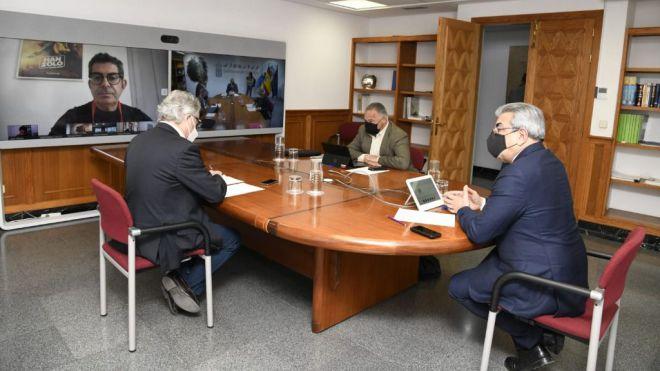 Rodríguez apremia al Estado para restablecer el diferencial fiscal de los rodajes cinematográficos en Canarias