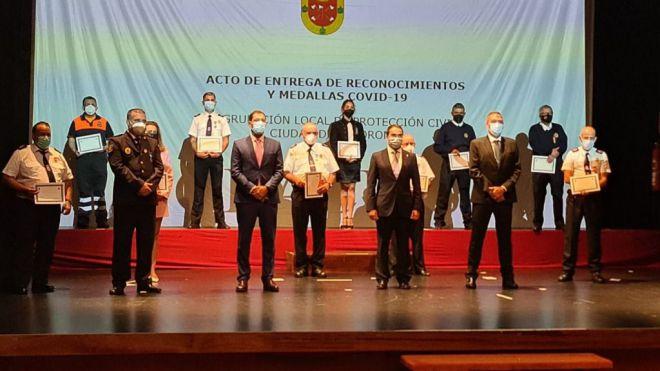 Tacoronte homenajea a la Agrupación Local de Protección Civil por su labor durante la pandemia