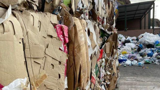 La Gomera gestiona 500 toneladas de envases ligeros y papel-cartón durante 2020
