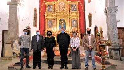 La Palma concluye la restauración del retablo mayor de la Iglesia de San Francisco