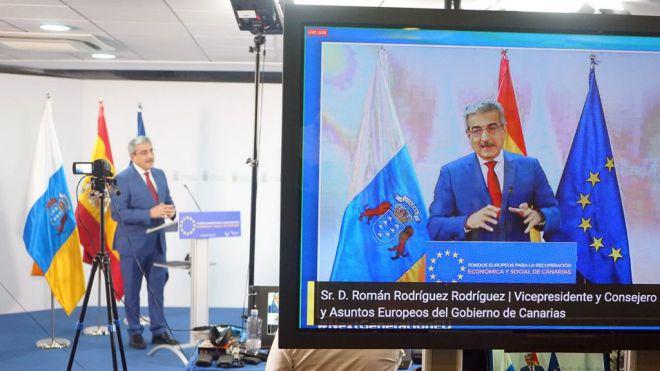Canarias ejecutará los presupuestos ordinarios y los fondos extraordinarios de reconstrucción al dictado del Plan Reactiva