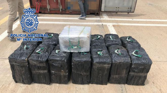Intervenidos 450 kilogramos de cocaína en un contenedor con origen en Brasil