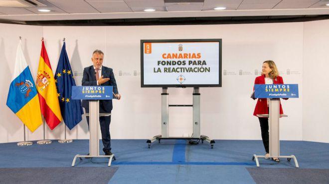 """Torres: """"Tenemos que aprovechar hasta el último euro que nos llegue para transformar Canarias"""""""