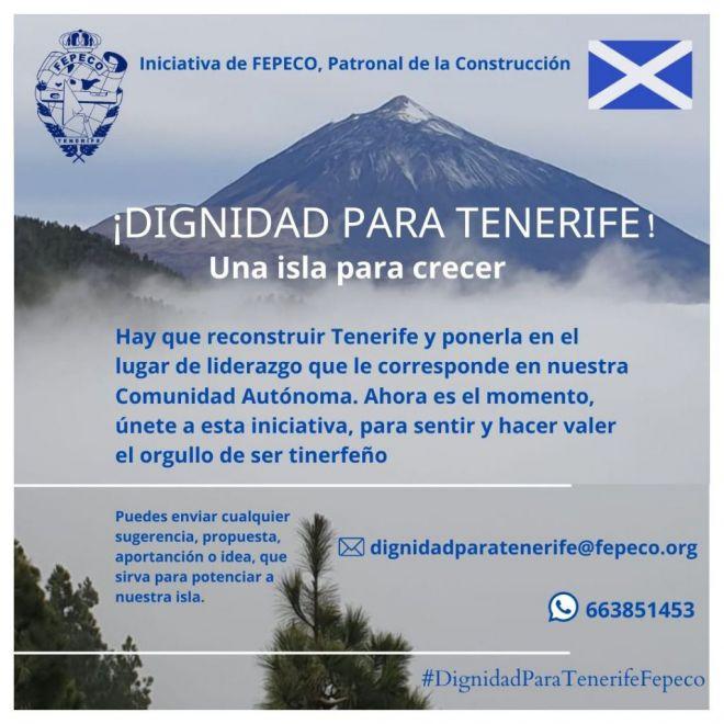 Tenerife No Se Rinde. Dignidad Para Tenerife. Una Isla Para Crecer