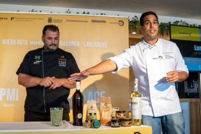 Lanzarote y Mallorca presumen de gastronomía para promocionar la ruta que une ambas islas