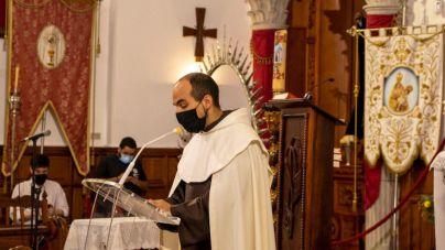 Fray Abel de Jesús pregonó las Fiestas del Carmen en el Santuario en que fue bautizado e inició su vida religiosa