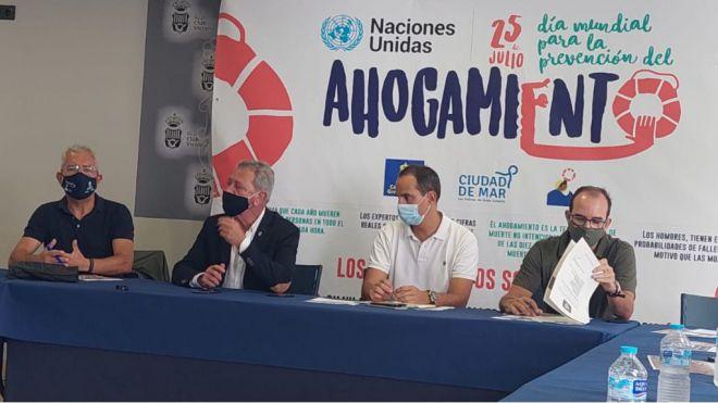 Las Palmas de Gran Canaria celebra el Día Mundial para la Prevención de los Ahogamientos en la Playa de Las Canteras