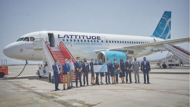 Lattitude Hub inicia sus operaciones con su vuelo directo Madrid con Tenerife Sur
