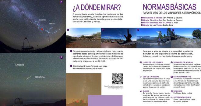 La Palma lanza una guía para disfrutar de la lluvia de estrellas de las Perseidas