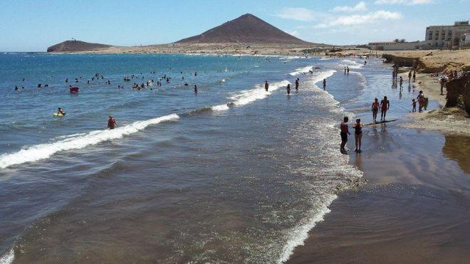Prohibido el baño, de manera provisional, en la playa de El Médano