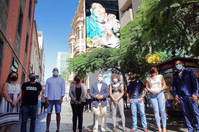 Santa Cruz rinde homenaje al músico Nilo Caparrosa con un mural gigante
