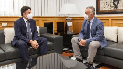 Ángel Víctor Torres y Juan Luis Lorenzo Bragado mantienen un encuentro por el inicio del año judicial
