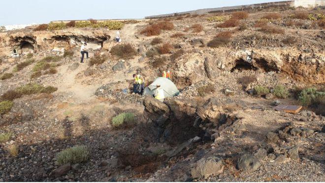 Granadilla y Costas proceden al desalojo de 40 asentamientos ilegales entre La Mareta y Los Abrigos