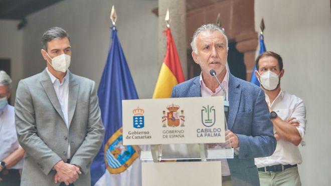 Torres subraya que el Gobierno de Canarias ya ha destinado 40 millones de euros a atender la emergencia volcánica