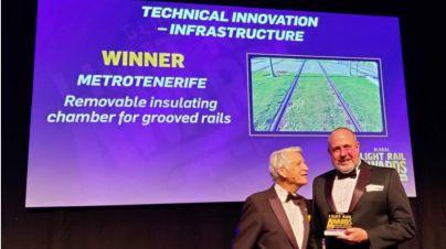 El tranvía de Tenerife recibe el premio a la Innovación Técnica del Año en los Global Light Rail Awards