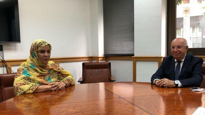 El Gobierno autonómico recibe a la nueva cónsul general de Mauritania en Canarias