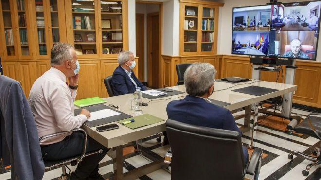 Reunión de la Comisión Mixta para la reconstrucción, recuperación y apoyo a La Palma