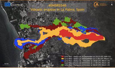 La lava afecta a 656 hectáreas y destruye a su paso 1.458 edificaciones de La Palma
