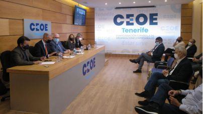 CC traslada a la CEOE que la isla ha perdido competitividad y liderazgo económico, político y social