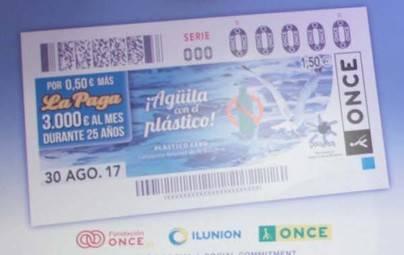 Lanzarote y su campaña de sensibilización contra el plástico en los cupones de la ONCE