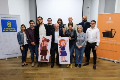 Los dibujos animados Sara y Darmo y sus aventuras enseñarán a los escolares la historia de los oficios artesanos de Gran Canaria