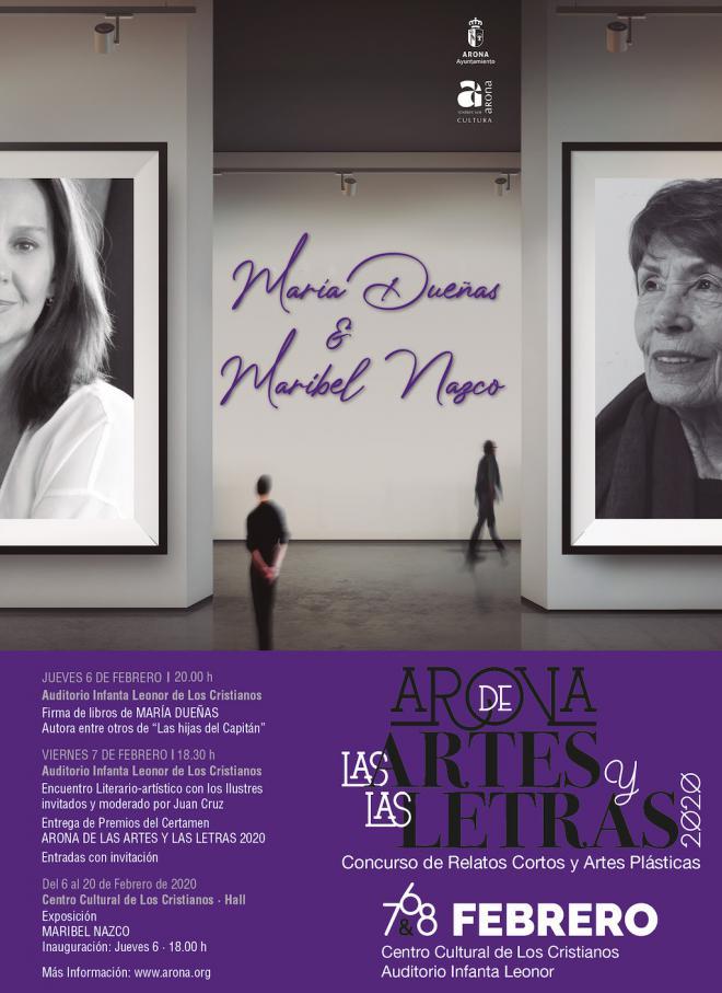 María Dueñas y Maribel Nazco, este viernes, en abierto en el Auditorio en el marco de Arona de las Artes y las Letras