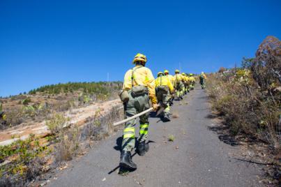 El Cabildo continúa trabajando para controlar el incendio forestal de Granadilla y Vilaflor