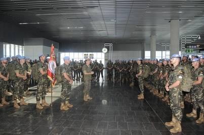 La Brigada Canarias XVI ha partido este sábado en Misión hacia tierras libanesas
