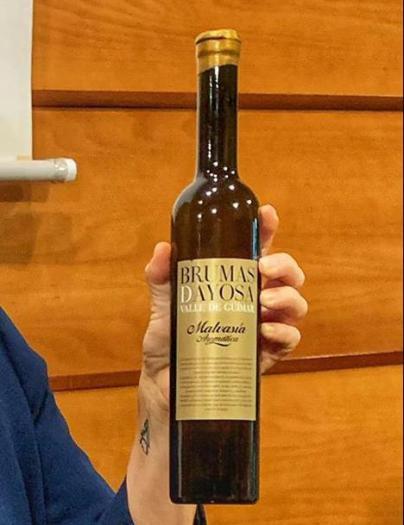 Brumas de Ayosa Malvasía aromática dulce, de Güímar, elegido el mejor vino de Canarias
