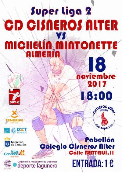 CD Cisneros Alter se enfrenta al Michelín Mintonette de Almería de la Superliga 2 masculina
